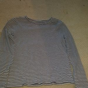 Long striped grey shirt